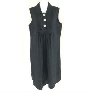 Style & Co Shift Dress Linen Pleated Sleeveless 14